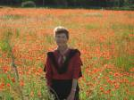 Marilyn McFarlane, France, poppy field, lighthearted travel