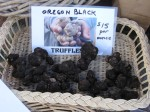 Oregon black truffles, farmers market