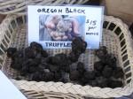 Oregon black truffles, farmers market