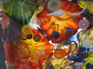 ceiling panel, chihuly bridge of glass, tacoma, washington