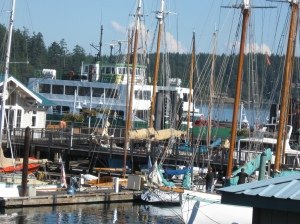 ferry landing Friday Harbor San Juan Island Washington