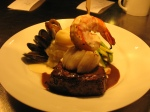 filet mignon and seafood, Frasers, Oak Harbor, Wash