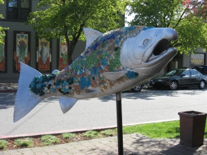 fish art, Proctor District, Tacoma